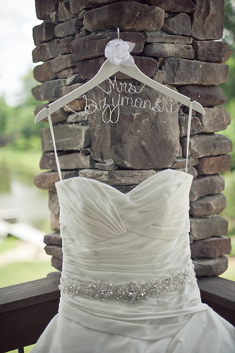 Wedding dress at The Arbor Events in Statesville NC