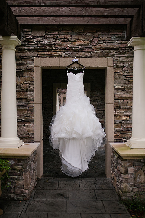 Wedding dress at Childress Vineyards NC