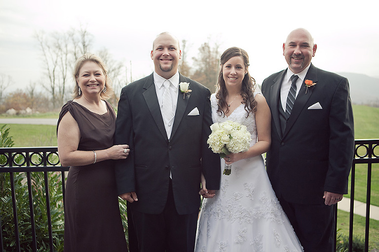 Balcony Family Formal Wedding Picture